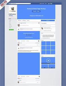 facebook new brand page 2016 mockup psd psdfreebiescom With facebook page design template free