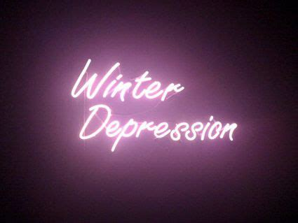 quot winter depression quot neon sign products