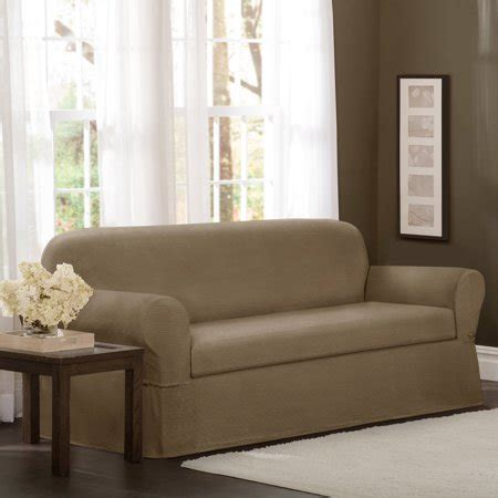 Loveseat Cover Walmart by Maytex Stretch Torie 2 Sofa Furniture Cover