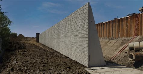 Elevate Precast Counterfort Retaining Wall  Elevate