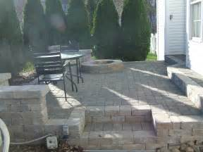 paver patio with fire pit designs pinterest