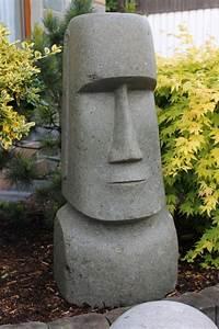 Garten Skulpturen Selber Machen : statue moai osterinsel steinfigur kopf ~ Yasmunasinghe.com Haus und Dekorationen