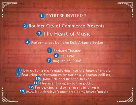 choir invitation ticketriver