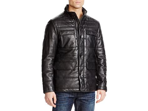 Boss Boss Garfin Quilted Leather Jacket In Black