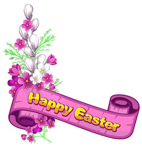 merry clipart easter flowers high definition images free