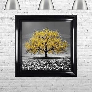 Yellow, Cherry, Tree, Framed, Wall, Art, By, Shh, Interiors