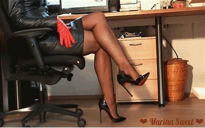 Heels Leather Marina Sweet Short Suit Nylons