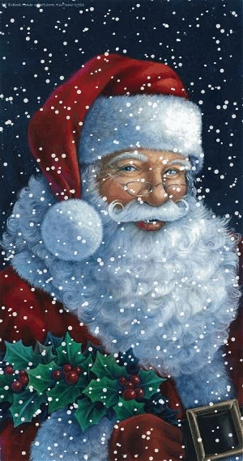 Santa Claus Animated Wallpaper - glitter animations snow animations
