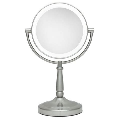 Lighted Magnifying Makeup Mirror by Zadro 10x 1x Led Lighted Satin Nickel Vanity