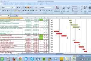 Chart Gantt Excel Spreadsheet