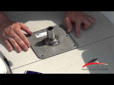 How To Install Jon Boat Seats by Yamaha Jet Boat Fishing Seat Pedestal Install