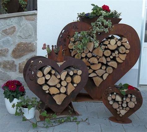 Gartendeko Rost Und Holz by Herz In Edelrost Gartendeko Geschenkidee Terasse Rost