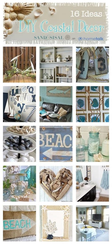 kitchen island centerpieces diy coastal decor ideas sand and sisal