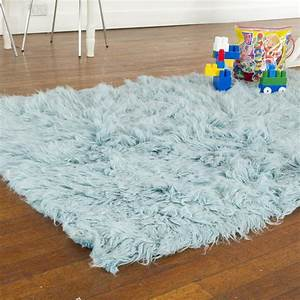 Buy Flokati Rug 1400gm2 140x200cm Blue Online The Real