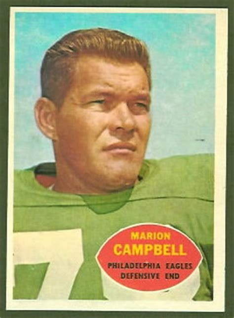marion campbell  topps  vintage football card