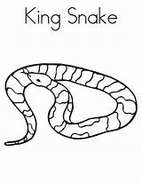 Snake Coloring Pages Snakes Printable Animal Cool sketch template