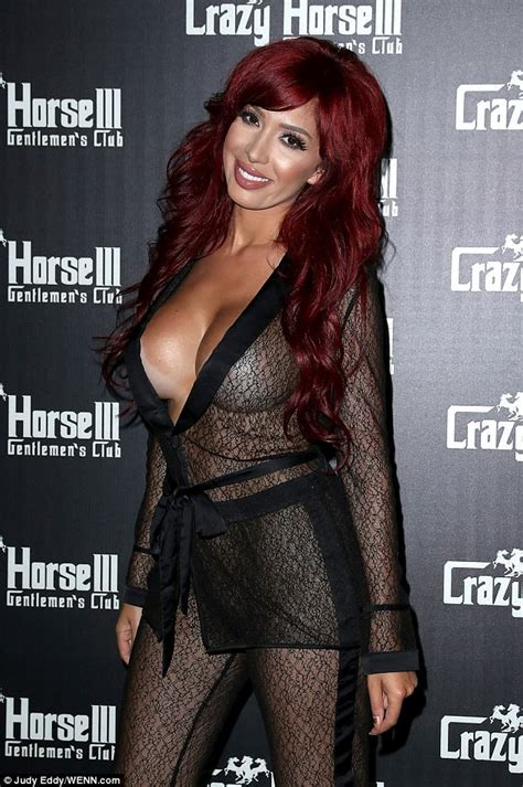 sheer lace jumpsuit farrah abraham flaunts surgically enhanced assets