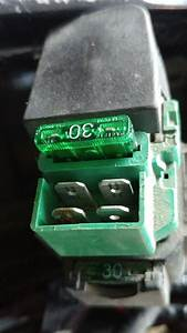 Burnt Starter Relay Connector  Cause Or Consequence  - Electrical