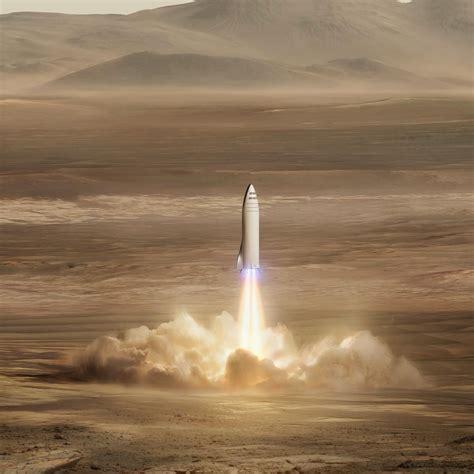 wallpaper spacex mars mission big fucking rocket hd