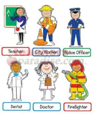 New Miniature Printables  Mini Bulletin Board Set Community Helpers From Teachersparadisecom