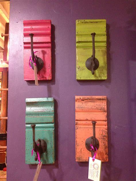 hooks  wood create colorful wall hangings