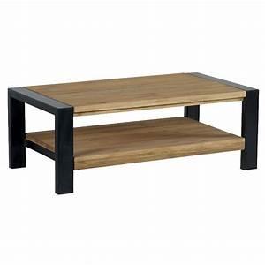 Table Basse Rectangulaire Bois : table basse double plateau lugano casita ~ Teatrodelosmanantiales.com Idées de Décoration
