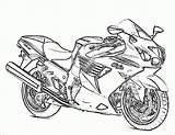 Coloring Motor Bikes sketch template