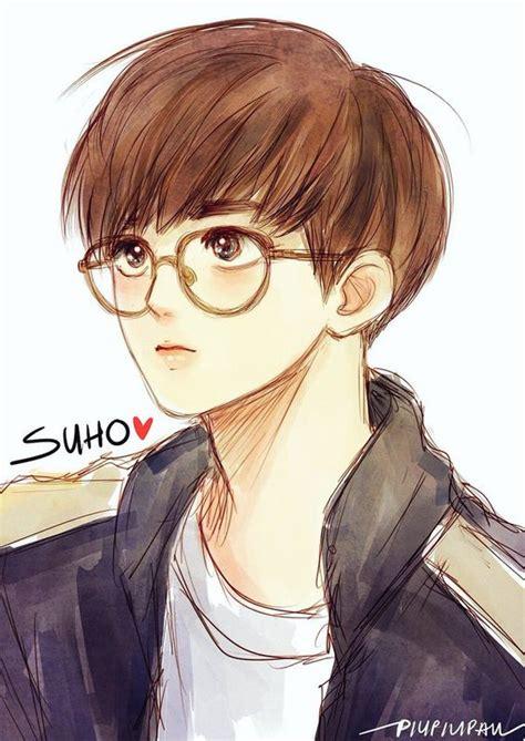 anime suho exo suho fanart fanart suho exo and glasses