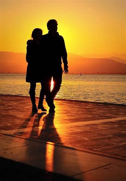Romantic Couple Wallpapers Sunset Cartoon Couples Sea