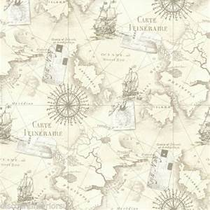 Nautical maps shabby chic wallpaper - The Shabby Chic Guru