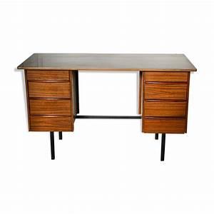 Bureau Bois Metal : bureau vintage bois et m tal mes petites puces ~ Teatrodelosmanantiales.com Idées de Décoration
