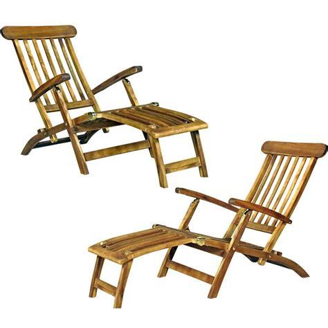 chaise longue extérieur chaise longeu en teck transat de jardin