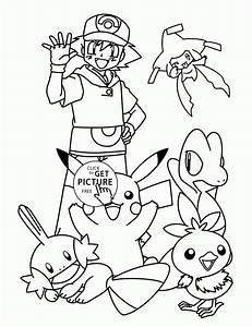 Pikachu With Friends Coloring Pages For Kids Pokemon