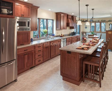 amish kitchen cabinets mission style  love  wood