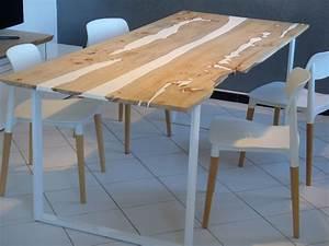 Table En Bois Et Resine : table manger bois r sine white river boutique penone design ~ Dode.kayakingforconservation.com Idées de Décoration