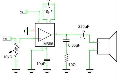 diagrama lm386 electronica electricidad li