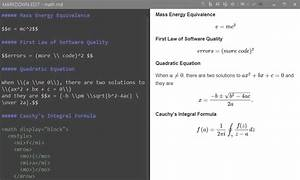 Markdown Edit  U2013 Math Equations