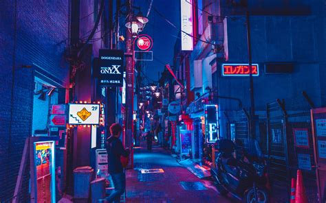 wallpaper japan benjamin hung night street neon text