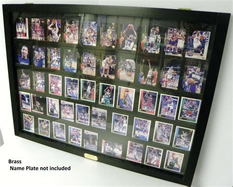 Cash wraps, retail counters, trophy cases, jewelry cases Card Display Case for Ungraded Baseball Cards 50 Black | eBay