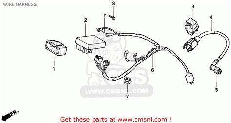honda xr100r 1993 p usa wire harness schematic partsfiche