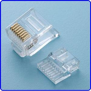 Cat6 Flat Plug With Wire Loading Guide Use For Flat Cables