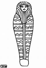 Egypt Ancient Drawing Coloring Casket Egyptian Pages Coffin Mummy Print Sarcophagus Clipartmag sketch template