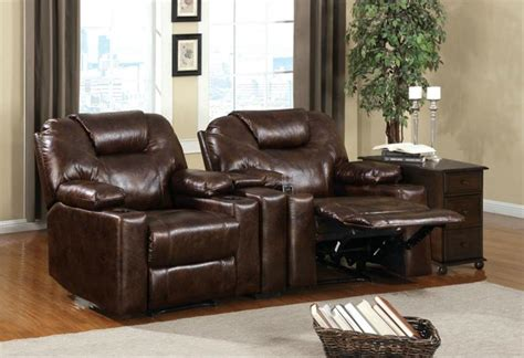 Home Theater Loveseat Recliners by Home Theater Recliner Contemporary Style Cup Holders