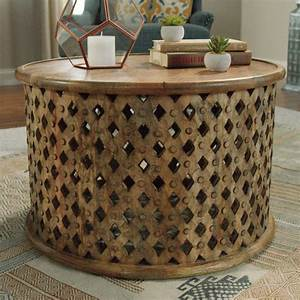 tribal carved wood accent table world market With tribal coffee table