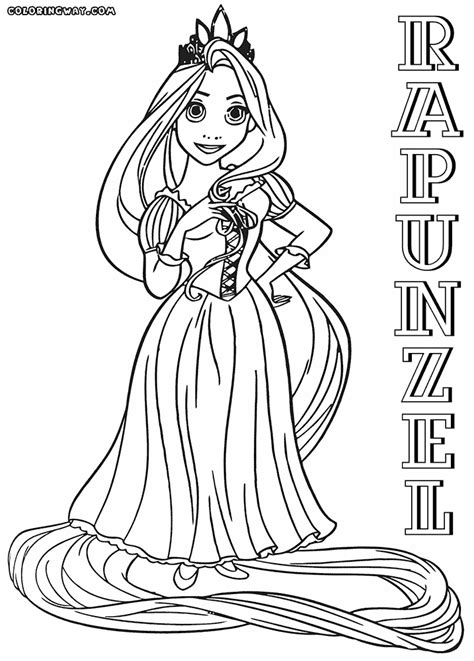 Coloring Rapunzel by Rapunzel Coloring Pages Coloring Pages To And Print