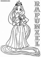 Rapunzel Coloring Pages Print sketch template