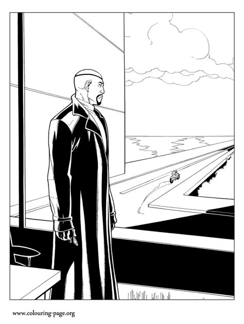 captain america nick fury    window coloring page