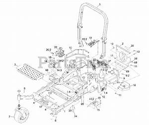 Exmark Parts On The Main Frame Assembly Diagram For