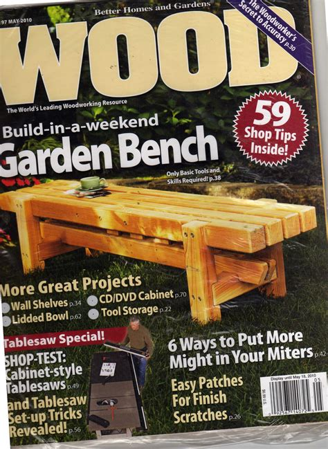 better homes and gardens wood magazine may 2010