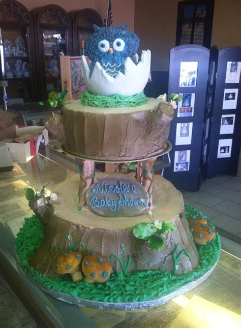 Owl Baby Shower by Baby Shower Cakes Conca D Oro Italian Pastry Shop